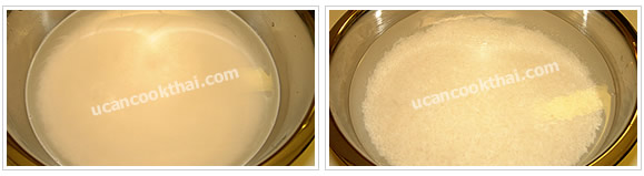 Preparation for sweet glutinous rice: No.1 Soak glutinous rice about 3 hours or over night