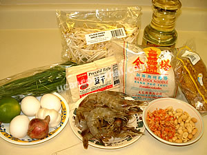 Pad Thai: Thai Style Stir-fried Rice Noodles Ingredients