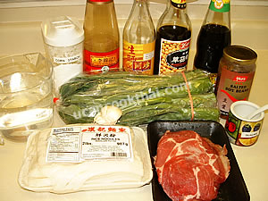 Wide Rice Noodles in Pork Gravy Ingredients