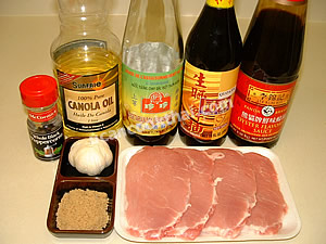 Fried Sun-dried Pork Ingredients: Sliced pork, sauces, garlic, pepper corn, brown sugar