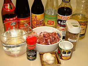 Fried Pork Rib Ingredients: Pork rib, sauces, Chinese cooking wine, garlic