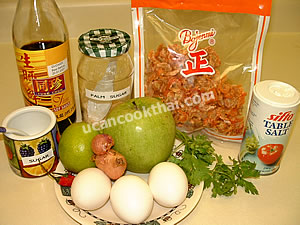 All Ingredients use in spicy apple salad