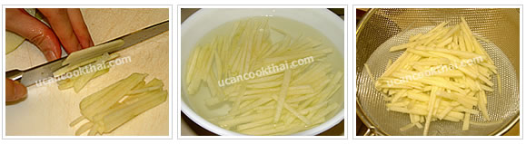 Preparation for spicy apple salad: prepare shredded apple