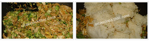 Preparation for Imitation Crabmeat Fried Rice: No.7 Stir fry thoroughly and add cooked rice