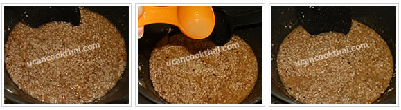 Preparation for Spicy Ground Pork Dip: No.8 Stir thoroughly until boil, turn off the stove, add lime juice and stir well