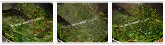 Preparation for Stir-fried Water Spinach: No.6 Stir fry quickly until the water spinach is getting cook, then remove from heat