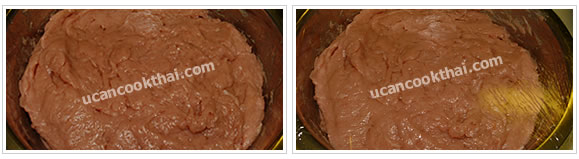 Preparation for Pork Ball: No.4 Put the pork mixture in a large bowl, wrap and marinate in a freezer for 30 minutes