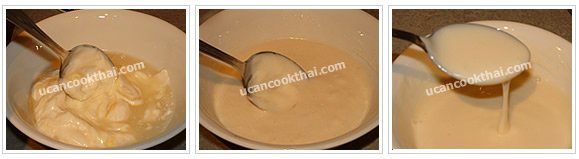 Preparation for Lime Cream Sauce: No.2 Stir all ingredients thoroughly and taste as your own flavor