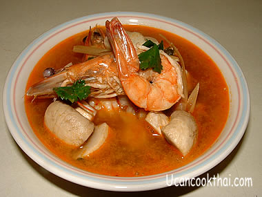 Sour & Spicy Prawn Soup: Tom Yam Kung