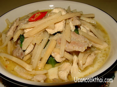 Chicken Green Curry with Bamboo Shoots