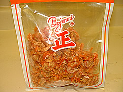 Dried Shrimp: salty and easy to find