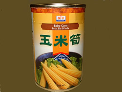 Baby corn in a can