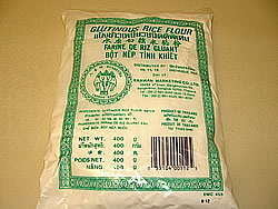 Glutinous Rice Flour, Sweet Rice Flour, used in Thai Desserts