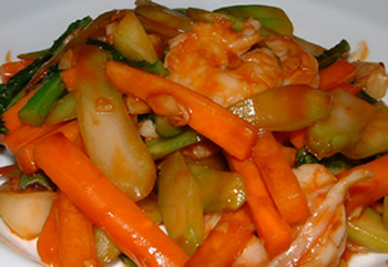 Attached File My recipe: Stir-fried Veggies with Shrimp in new window